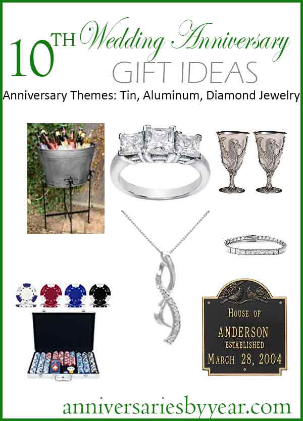 Tenth anniversary 10th wedding anniversary gift ideas for 10th wedding anniversary decoration ideas
