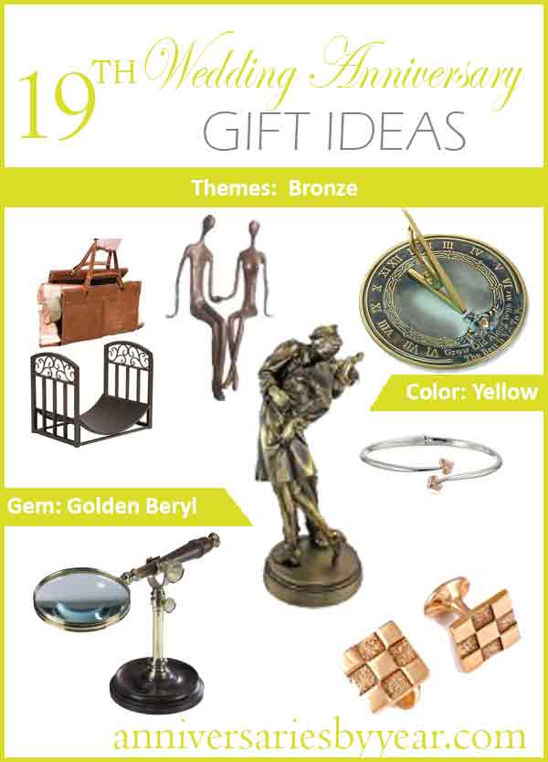 19th Anniversary Nineteenth Wedding Anniversary Gift Ideas
