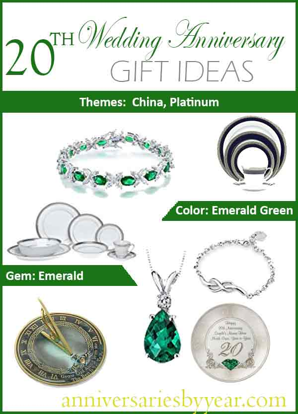 Twentieth Anniversary - 20th Wedding Anniversary Gift Ideas