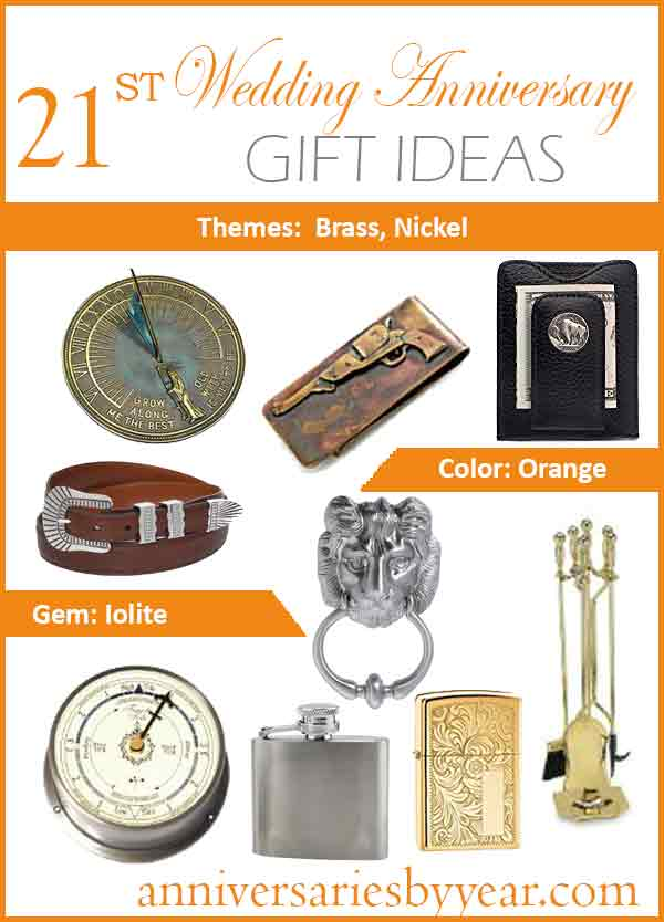 brass anniversary gift ideas