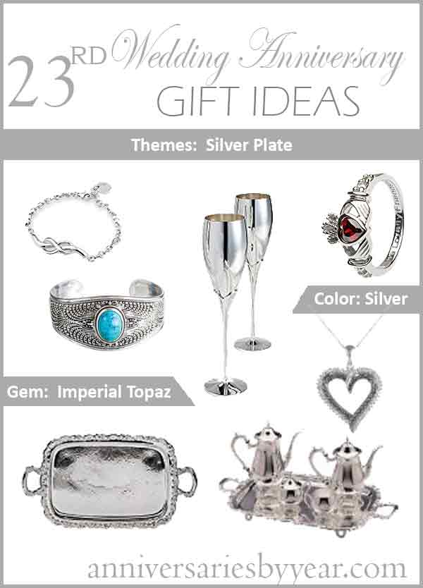 23rd Anniversary Twentythird Wedding Anniversary Gift Ideas