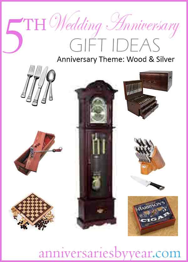 Fifth anniversary th wedding gift ideas