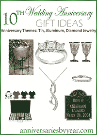 10th Wedding Anniversary Gift Ideas