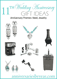 11th Wedding Anniversary Gift Ideas