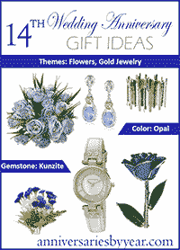 14th Wedding Anniversary Gift Ideas