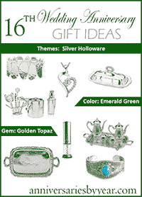 16th Wedding Anniversary Gift Ideas