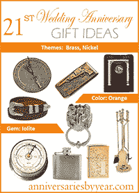 twenty first anniversary gift ideas