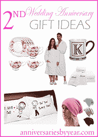 Second Anniversary - 2nd Wedding Anniversary Gift Ideas