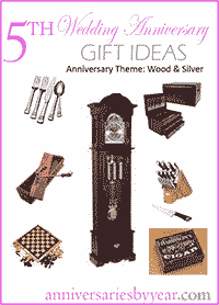 5th wedding anniversary, 5th Anniversary Gift Ideas