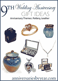 ninth wedding anniversary gifts traditional