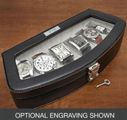 leather watch case & 6th Anniversary - Sixth Wedding Anniversary Gift Ideas