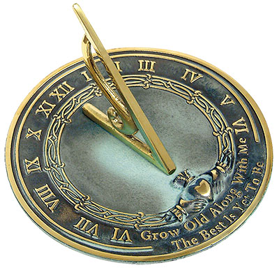 stunning grow old with me brass sundial just 10999