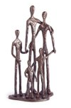 family of 5 sculpture